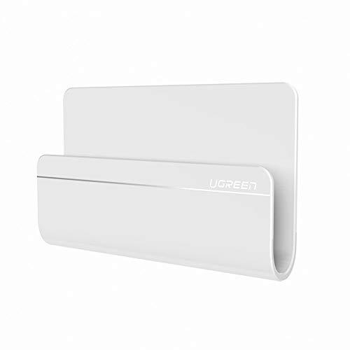 UGREEN Ladehalterung Handy Wandhalterung Handyhalterung für Wand unterstützt für iPhone 11 Pro Max X 8 Plus, Samsung Galaxy S20 S10 A50 A70, Huawei Mate 20 P30 Pro P20 P10 P8, LG, Google Pixel, Weiß