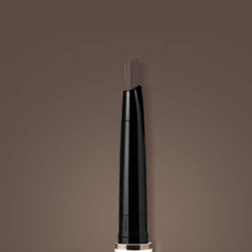 Crayon à sourcils plus double avec brosse à sourcils, couleur naturelle imperméable à l'eau anti-taches facile à utiliser, stylo à sourcils étanche à double extrémité