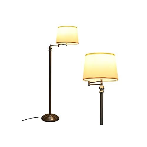 lámparas de pie Lámpara de pie, lámpara alta moderna, lámpara de pie creativa para sala de estar y dormitorios, luz de estar, tela, pantalla, luz vertical moderna de la luz para la decoración del hoga