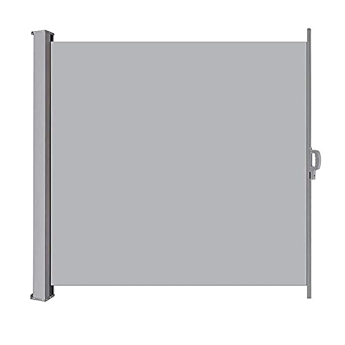 ANYURAN Sombrilla retráctil para toldo Lateral de jardín, Pantalla de Patio Toldo Pantalla de privacidad Parasol Refugio Manual Restaurante casero,180x300cm