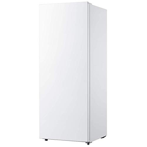 Koolatron Compact Garage-Ready Upright Freezer with 7.0 Cubic Feet Capacity, Space-Saving Slim Design for Home, Apartment, Condo, Cabin, Basement - White