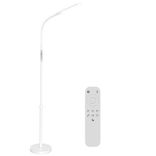 NXONE Led Floor Lamp,Modern Reading Adjustable Standing Height 4 Colors and Stepless Brightness Work Lamp for Living Room Bedroom Reading, White