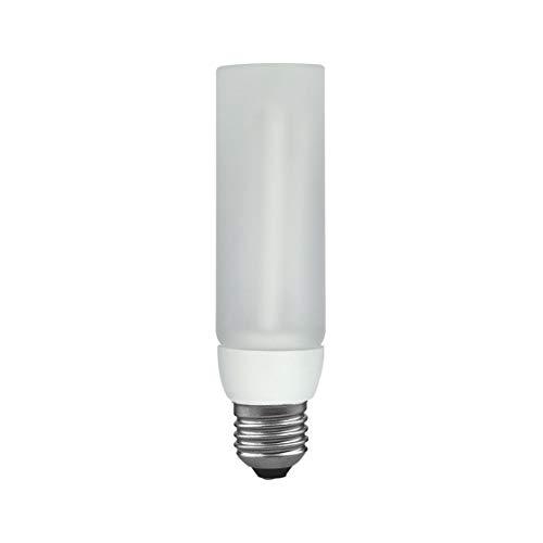 Paulmann 894.11 Energiesparlampe Decopipe Gerade Warmweiß Glas E27 11W Satin 89411 dekorativ Leuchtmittel