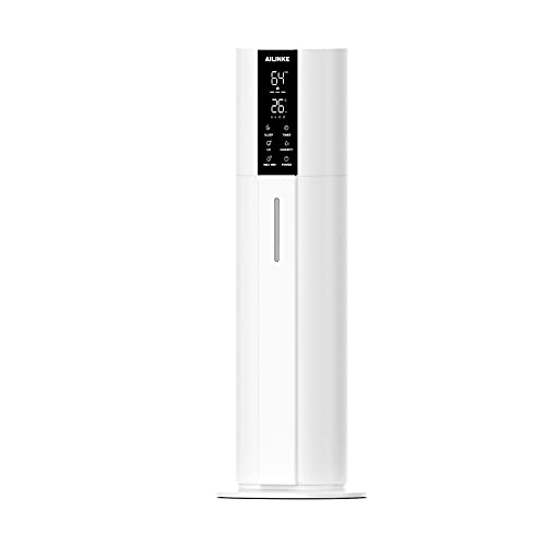 AILINKE Ultrasonic Humidifier for Large Room, Home, Office, School, 9L/2.3GAL Large Capacity, Top-Refill, Smart Constant Humidity, Whisper-quiet, Lasts Up to 30H, with Remote control