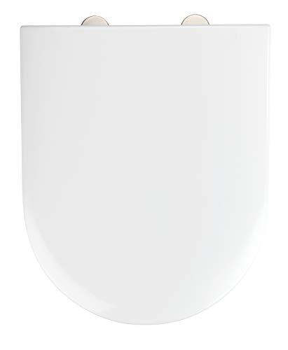 WENKO WC-Sitz Exclusive Nr. 1 - Antibakterieller Toiletten-Sitz mit Absenkautomatik, Duroplast, 37.5 x 46 cm, Weiß