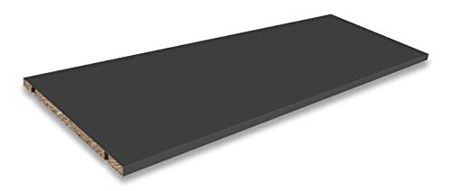 Stil.Zeit Einlegeboden/Größe: 86,6 x 31,6 cm/Farbe: Anthrazit Matt/passen für Sideboards & Lowboards mit Einer Breite von 1800 cm/Höhe individuell einstellbar/inkl. 4X Bodenträger