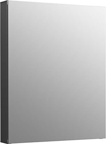 "Kohler K-81145-DA1 Maxstow Frameless Surface Mount Bathroom Medicine Cabinet, 20"" x 24"", Dark Anodized Aluminum"