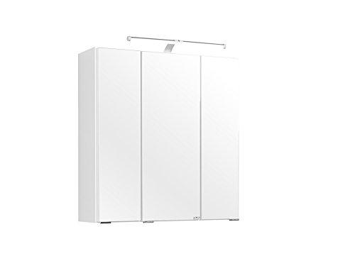 Held Möbel Portofino 3D Spiegelschrank 60, Holzwerkstoff, weiß, 20 x 60 x 64 cm