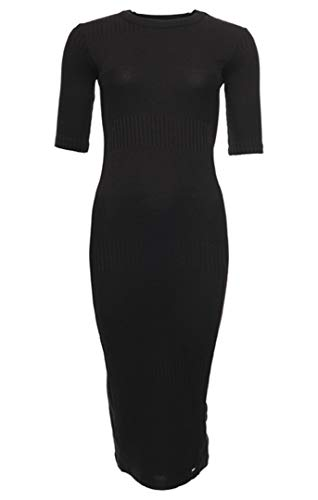 Superdry NYC Multi Rib Tshirt Dress Vestido Casual, Black, XXS (Talla del Fabricante:6) para Mujer