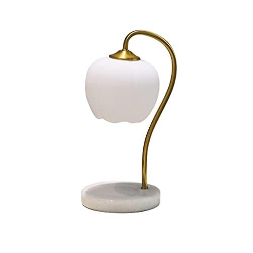 WZHZJ Lámpara de aromaterapia Luminosa térmica de Vela, Ambiente de Mesa de mármol, lámparas de Mesa de Noche cálidas