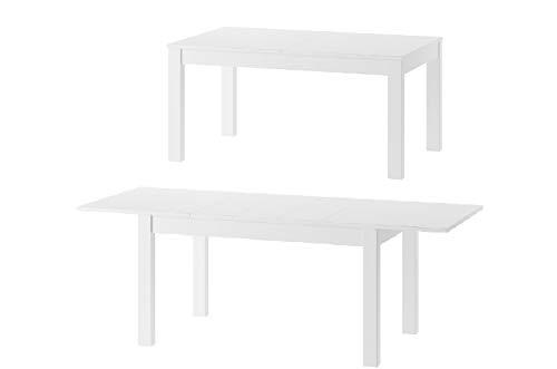 MPS Möbel praktisch Tisch TALIS 140x76x85 cm Esstisch mit ausziehbarer Tischplatte auf 215 cm ausziehbar Küchentisch Esszimmertisch Ausziehtisch (Weiß Matt)