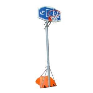CDsport - Juego de Baloncesto Portátil, Altura Ajustable Hasta 305 cm, Columnas de Varias Secciones, Acero Barnizado Metalizado, Calidad Premium