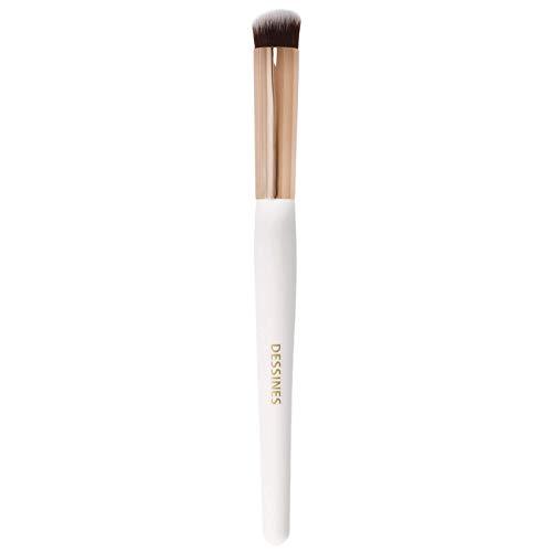 Dessines - Brocha de maquillaje sintética profesional, brocha para base, corrector, iluminador, contorno, Kabuki, brocha de maquillaje (cobertura completa WG773), color negro y dorado