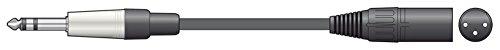 chord S6J-XM600 - Cable de jack TRS a XLRM (6 m, 6,3...
