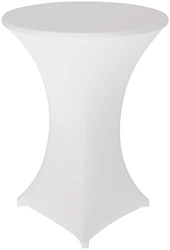 infactory Stretchhussen: Stretch-Stehtischhusse, Oeko-TEX® Standard 100, Ø 80 cm, weiß (Stehtisch-Überzug)