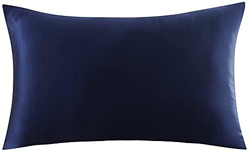Hansleep Funda Almohada 50x80cm de Satén Armada, Sedoso estándar para 2 Piezas, con Cierre de sobre, Muy Liso Suave de 100% Microfibra, Belleza Facial, Cuidado de la Cara, hipoalergénico