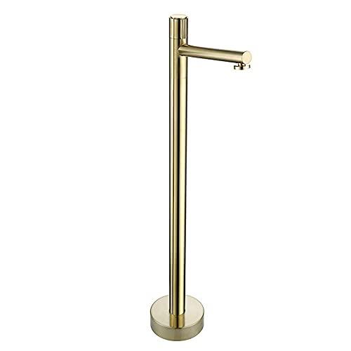 MRTYU-UY Juego de grifos de una Sola Palanca para bañera, Grifo de pie montado en el Suelo, grifos Monomando de Ducha de baño Independientes, fácil de Instalar, Negro
