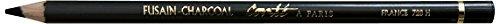 Conté à Paris 2284 Kohlestift, Skizzenstift, schwarz, 1 x 1 x 17,8 cm