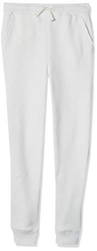 Amazon Essentials - Pantalón de chándal con forro polar para niño, Blanco, US M (EU 128 CM)