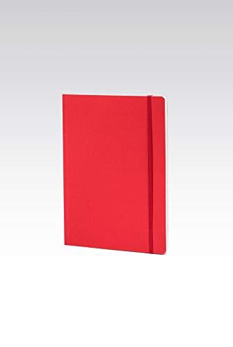 Fabriano taccuino con elastico – colore rosso – fogli puntinati - formato a5