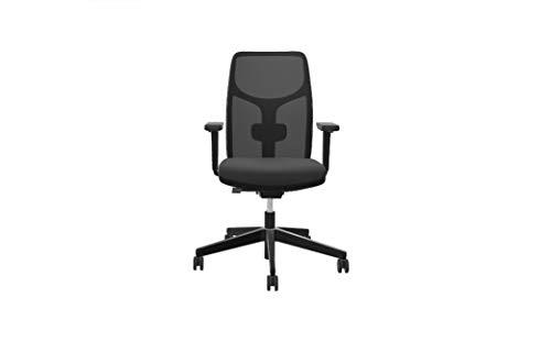 Steifensand Eserio ergonomischer Bürostuhl mit Netzrücken, kompakt, perfekt für Zuhause, schwarz