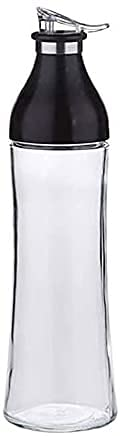 XUERUIGANG Botella de Aceite, Botella de dispensador de Aceite de Oliva de Vidrio, 600 ml Claro, Aceite de Oliva Carafe Decantador de Cocina