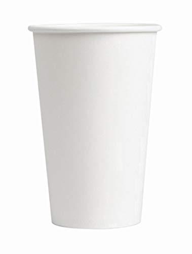 Vaso de cartón blanco 48 cl para café y bebidas calientes