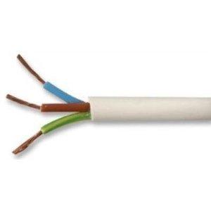 SEL Flex-Kabel, 1 m lang, 3093Y, 3-adrig, 1,5 mm, hitzebeständig, Weiß