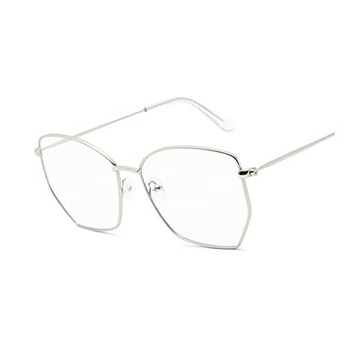 ZZDH Gafas de Sol Mujeres Vintage Vintage Hombre Gafas de Sol Gafas de Sol retras Marco de Metal de Gran tamaño Regalo para Madres (Lenses Color : A)