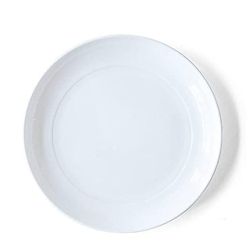 Plato de postre de plástico para el hogar, de color puro, para sushi, platos japoneses de dulces, bandeja de basura de escritorio, accesorios de cocina (color: blanco)