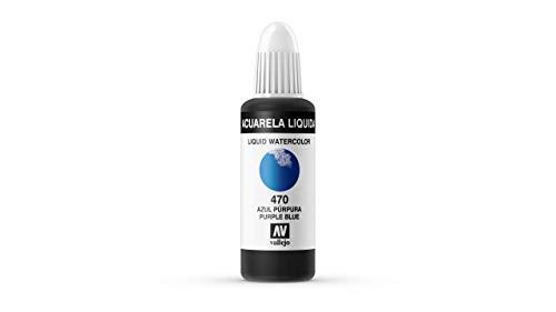 Vallejo - Acuarela líquida 32ml, color azul púrpura