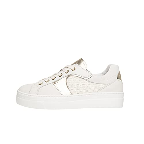 Nero Giardini E010672D Sneakers Donna in Pelle E Tela - Bianco 36 EU
