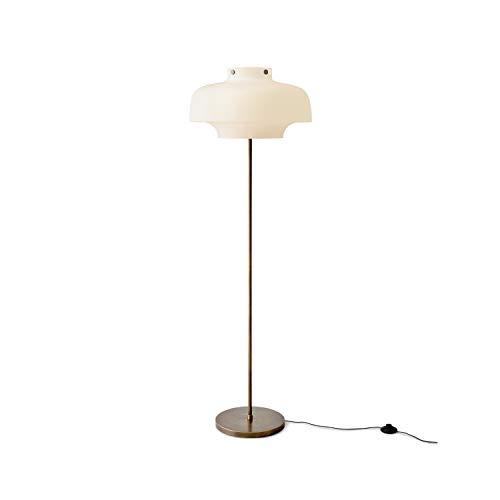 Lámpara de pie 100/240V 50Hz con Pantalla de Vidrio opalino, Modelo Copenhagen SC14, Acabado latón y Bronce, 50 x 50 x 150 centímetros (Referencia: 65211001)