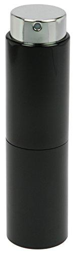 Fantasia - Vaporisateur de poche Noir Tête Vaporisateur rotatif pour 10 ml Hauteur 8 cm