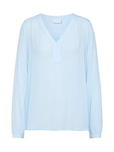 KAFFE Damen Bluse hellblau 42 (XL)