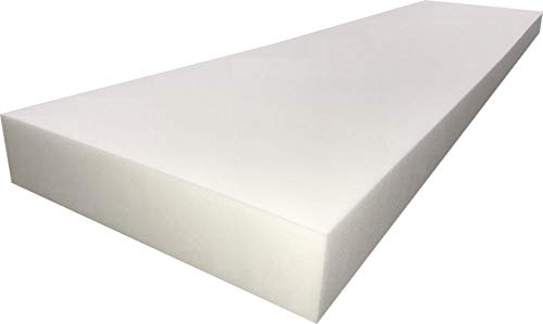 FoamTouch Upholstery Cushion High Density Standard(Seat Replacement, Sheet, Foam Padding), 6'' L x 24'' W x 72'' H