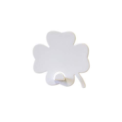 KalaMitica Kleeblatt-Design Magnetische Aufhänger, ABS-Harz, Weiß, 5,5x5,1 cm