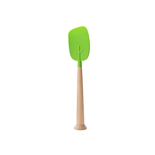 TIMBER Silicone non-stick Spatula with Wooden Handle by OTOTO