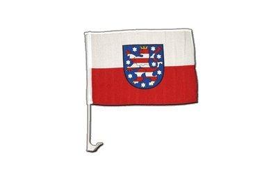 Flaggenfritze Autofahne Autoflagge Deutschland Thüringen - 30 x 40 cm