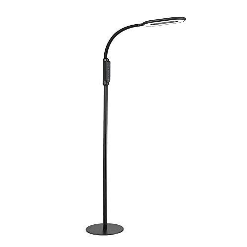 QTDH LED-vloerlamp, zwanenhals, om te lezen, piano, schoonheid, tattoo, nagellamp, leeslamp, verstelbaar, voor woonkamer, slaapkamer, kantoor