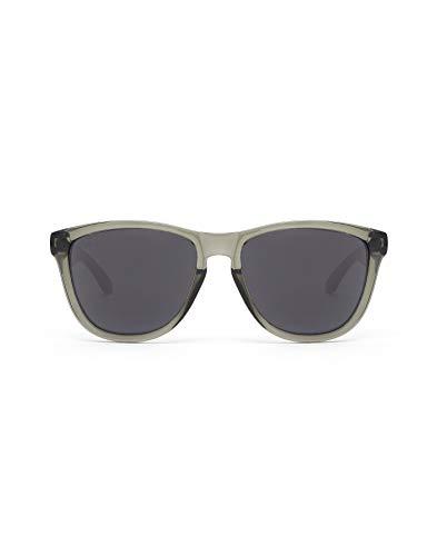 HAWKERS Gafas de Sol ONE Air, para Hombre y Mujer, con Montura Gris Transparente y Lente Oscura, Protección UV400