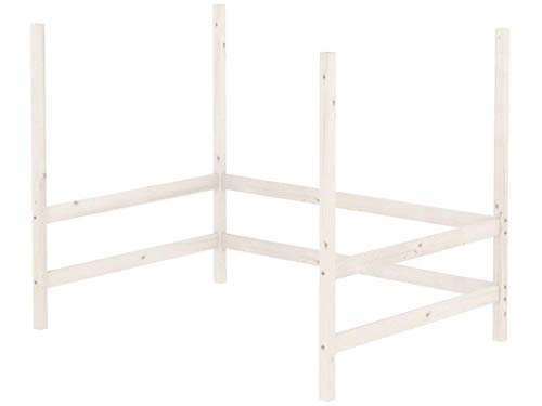 Flexa Classic Bausatz für Mezzanine Hochbett 140x190cm Weiß