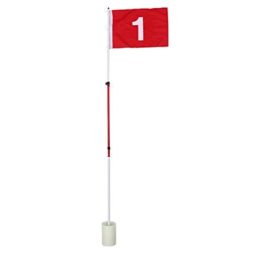 CLISPEED 1 Juego de Minifaldas de Golf Mini Putting Green Flag para Patio de Golf Pin Flags Set de Copa de Hoyo para Campo de Prácticas Patio Trasero