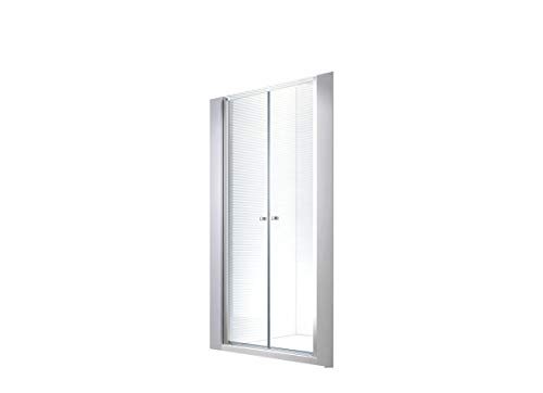 Glaszentrum Hagen - 6 mm | 130x195cm Nischen- | Pendeltür | Duchtür | Nischentür | Duschwand | Dusche | Nischendusche | ESG-Klarglas
