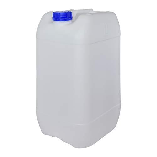 Bidón Garrafa Plástico 25 litros apilable. Apta para uso alimentario. Homologación para transporte. (1 Unidad)