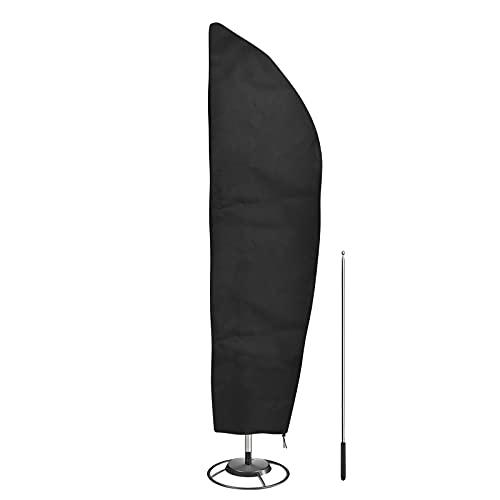 Vegena Sonnenschirm Schutzhülle mit Stab,Schutzhülle für Sonnenschirm,Ampelschirm Schutzhülle,Sonnenschirm Abdeckung 2 bis 4 M Große Abdeckhauben für...