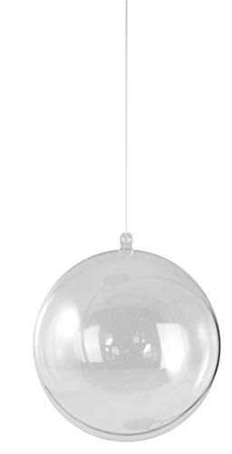 Rayher 3911637 Plastik-Kugel 2tlg., 12 cm ø, kristall
