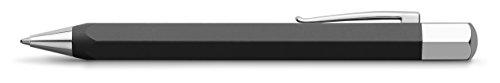 Faber-Castell Ondoro - Bolígrafo con cuerpo en resina mate, con forma hexagonal, color negro grafito