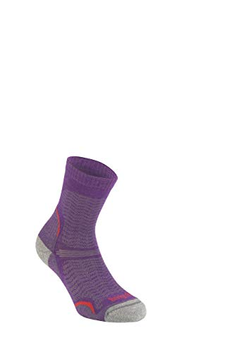 Bridgedale Damen Hike Ultra Light Merino Endurance Original Socken, violett, L