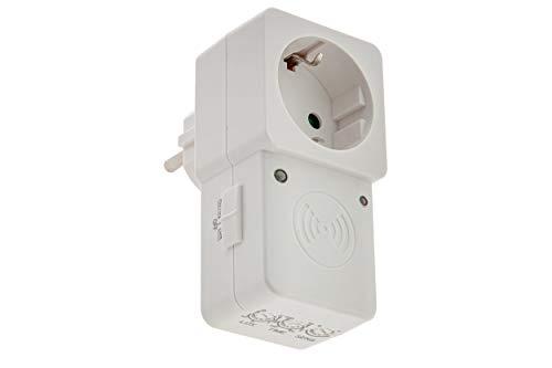 HUBER Motion 21HF Zwischenstecker Radar Bewegungsmelder 180° für Steckdose I 230V / 1200W Bewegungssensor LED geeignet mit bis zu 8m Reichweite I Dämmerungssensor